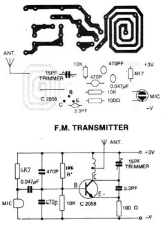Electrical and Electronics Engineering: Mini Fm Transmitter Elektrotechnik und Elektronik: Mini-FM-Sender Electronic Kits, Electronic Schematics, Electronic Engineering, Electrical Engineering, Electronic Devices, Electronics Projects, Hobby Electronics, Electronics Basics, Medical Technology