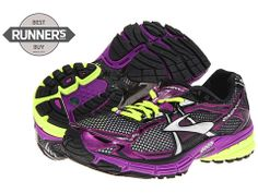 The best running shoes. My favorite! Brooks Ravenna 4 http://www.zappos.com/brooks-ravenna-4-cactus-flower-nightlife-silver-black-white. Dynamic cushioning and dependable stability.