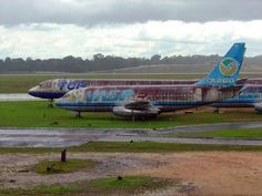 Cargo planes left to rust . . .