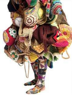 """Nick Cave, knitloop. Nick Cave, fabric sculptor, dancer, and performance artist, best known for his """"Soundsuits"""": wearable fabric sculptures that are bright, whimsical, and other-worldly. Nick also trained as a dancer with Alvin Ailey, resides in Chicago and is director of the graduate fashion program at School of the Art Institute of Chicago."""