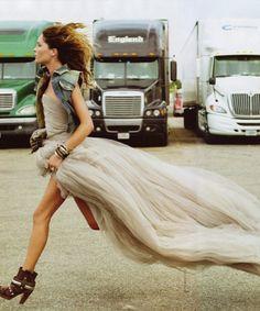 Girly vs Boyish ....love this shot! #photography #fashion Light grey tulle by corina