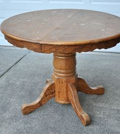 #DIY guide to repainting an old table or an old piece of furniture. Besides sanding materials (?), You need: a primer that blocks stains and also sticks like super glue, an extremely durable paint with a hard finish that can withstand the banging of bowls and plates, and finally, a layer of protectant.