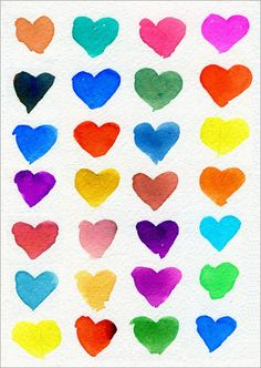 Hearts of Many Colors - ART PROJECTS FOR KIDS
