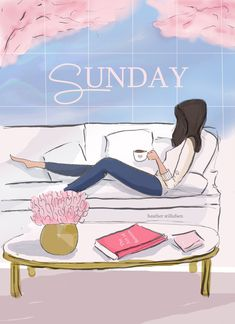 Sunday by Rose Hill Design Happy Sunday Quotes, Weekend Quotes, Happy Day, Hello Weekend, Bon Weekend, Weekend Days, Hello Sunday, Girly Quotes, Art Quotes