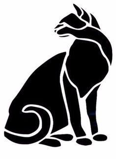 House Cat Silhouette Tribal Car Truck Window Vinyl Decal Sticker 12 COLORS #TheStickerEmporium