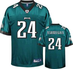 Reebok Philadelphia Eagles Nnamdi Asomugha 24 Blue Replica Jersey Sale
