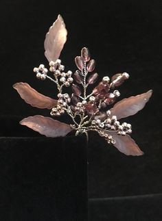 Excited to share the latest addition to my #etsy shop: Hair Pin Ruple Flower Hair Pin purple Hairpiece purple Branch Hair pin leaf branch hairpiece branch hair pin leaves leaf purple hairpiece