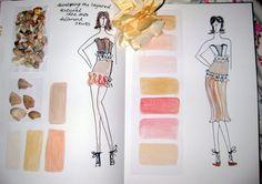 Fashion Sketchbook - fashion design & development, sketch book pages // Hayley Cornish