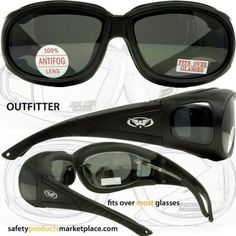 c68a57d3a1 Outfitter Foam Padded Fits Over Most Prescription Eyewear Glasses Clear  Lenses - Fit Over Sunglasses - Amazon.com