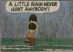 Charlie Brown and the rained out baseball game