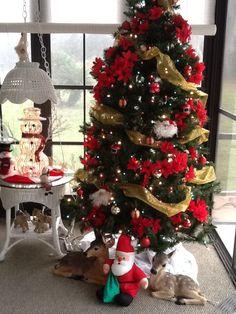 Sun room Christmas Tree