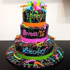 Torta de 15 Años Neon!! Para todas tus celebraciones La Mejor ...