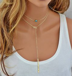 Check out Choker Necklace, Layered Choker Necklace, Turquoise Necklace, Personalized Infinity Necklace Gold, 14k Gold Filled Chain, Natural Turquoise on malizbijoux