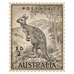 Iconic Australian postage stamp re-drawn in crayon. Old Stamps, Vintage Stamps, Teacher Stamps, Japanese Stamp, Postage Stamp Design, Fabric Stamping, Nail Stamping, Australian Vintage, Domino Art