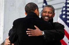 Barack Obama and Denzel Washington