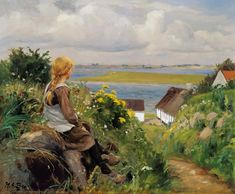In thought - Hans Andersen Brendekilde as art print or hand painted oil. Oil On Canvas, Canvas Prints, Art Prints, Lund, Hyperrealism, Beautiful Paintings, In This World, Art For Kids, Cool Art