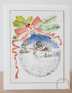 Christmas Snowflakes, Xmas Ornaments, Christmas Baubles, Christmas Cards To Make, All Things Christmas, Holiday Cards, Poppy Cards, Winter Holidays, Flourish
