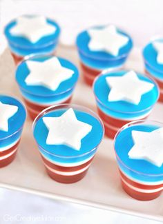 4th of July Recipes - Red White and Blue Jello - Creative Juice