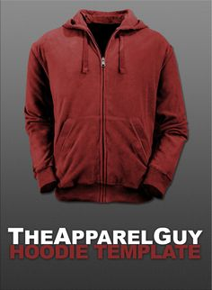 Hoodie Template PSD by ~TheApparelGuy on deviantART