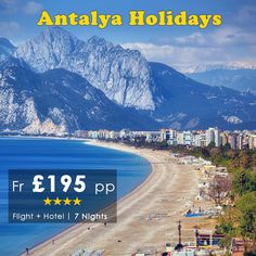 Antalya is a #Turkish #resort city with a yacht-filled Old Harbor and beaches flanked by some of the best #Hotels of the world. Book Your #Antalya #Holidays only with #HomeandAwayHolidays For more details call our holiday experts on 0116 237 2535 http://bit.ly/AntalyaBeachHolidays