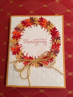 Thanksgivings Thanksgivings nail ideas at home - Nail Ideas Thanksgiving Greeting Cards, Hand Made Greeting Cards, Making Greeting Cards, Fall Cards, Greeting Cards Handmade, Holiday Cards, Happy Thanksgiving, Scrapbooking, Scrapbook Cards