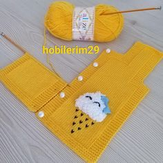 Baby Vest, Baby Knitting Patterns, Yellow, Sweaters, Handmade, Accessories, Instagram, Fashion, Baby Coming Home Outfit