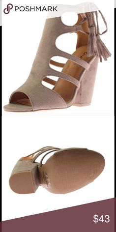 Women's dress sandal Taupe NEW 💥Restocked💥 6 7 Restocked sizes 6 & 7 💥💥. Brand new in package.  Additional info. In pics.  Buy with confidence I am a top rated seller, mentor, and fast shipper.  Don't forget to bundle and save. Qupid Shoes Sandals