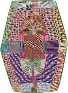 Наполненный цветом ковёр из коллекции Signatures collection - Freaky. Дизайн: Бертьян Пот. Размер 288 x 395 см.