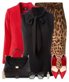 Dolce & Gabbana Leopard Skirt by amber-1991 on Polyvore featuring polyvore, fashion, style, Dolce&Gabbana, Liz Claiborne, Anaconda, clothing, black, red, dolceandgabbana and LeopardPrint