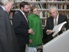 Princess Stephanie and Guillaume visited Carlos de Amberes Foundation