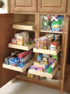 Shelves That Slide offers pantry shelving solutions for every home. Our sliding shelves are easy to install and a convenient addition to any house!