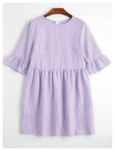 Striped Dress (Purple)
