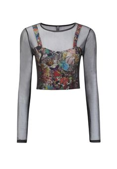 Poirin Crop Top £8.99 http://www.prodigyred.com/p3608/poirin-mesh-graphic-crop-top-/product_info.html?attr_id=6