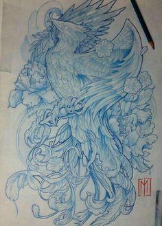 """ Artwork by: Jaromir Mucowski Location: Gdynia, Poland Artist's IG: Tatoo Art, Body Art Tattoos, Sleeve Tattoos, Liverbird Tattoo, Tattoo Expo, Ear Tattoos, Yakuza Tattoo, Japanese Phoenix Tattoo, Japanese Tattoo Art"