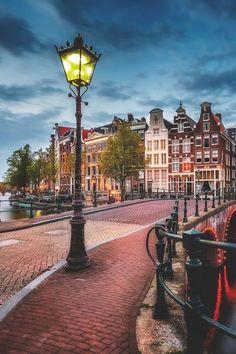 A Bridge in Amsterdam, The Netherlands