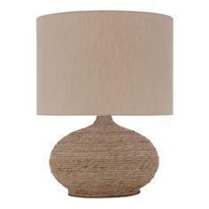 Lámpara de sobremesa con base de cuerda Cleo