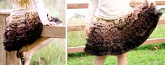 love this ruffly skirt