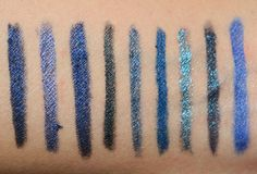 Navy Blue Eyeliners: BB Black Navy, MUFE #8K, bareMinerals Noon, D&G 8, EL Blackened Sapphire, MAC Marine Ultra, MAC Prussian, MAC Blooz Navy Blue Eyel