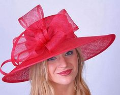 Strawberry Red Derby Hat by HAT-A-TUDE!