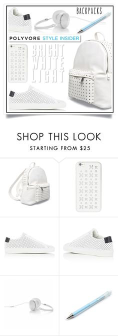 """""""Rule School: Cool Backpacks"""" by ewa-naukowicz-wojcik ❤ liked on Polyvore featuring 7 Chi, MICHAEL Michael Kors, Common Projects, Frends, White Label, backpacks, contestentry and PVStyleInsiderContest"""