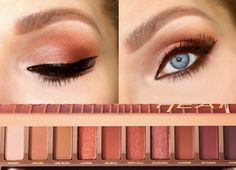 Orange/Coral Cat Eye Urban decay Naked Heat Palette | Naked Heat Palette Tutorial | Copper and Orange Eyeshadows