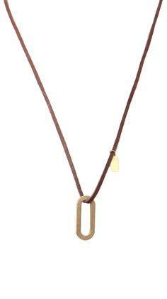 Artisan Jewelry by Good HYOUman  Brass Bar - Black Leather @ Luxe Yard