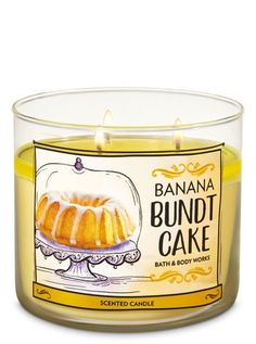 Scented Candles - Banana Bundt Cake Candle by Bath & Body Works - Mini Candles, Bath Candles, 3 Wick Candles, Scented Candles, Candle Jars, Homemade Candles, Bath Body Works, Banana Bundt Cake, Candle Branding