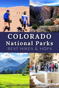 Colorado National Parks: 4 Gems with Unique Hikes — Colorado Hikes and Hops Colorado National Parks, Gunnison National Park, Sequoia National Park, Colorado Hiking, Rocky Mountain National Park, Gunnison Colorado, Hiking Usa, Yellowstone National Park, Hiking Trails