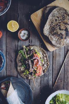 Buckwheat Pita Bread - Gluten Free - Souvlaki For The Soul Healthy Recipes, Yummy Recipes, Free Recipes, Dinner Recipes, How To Make Bread, Food To Make, Bread Making, Gluten Free Pita Bread, Gourmet