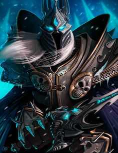 World of Warcraft Fan Art: The Lich King. by AlbertoChuqui.deviantart.com on @deviantART
