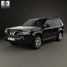 Nissan X-Trail 2004 3d model from humster3d.com