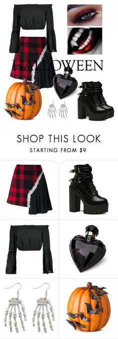 """Halloween"" by thedarkflower ❤ liked on Polyvore featuring Maison Margiela, Boohoo, Lipsy, Improvements, halloweencostume and DIYHalloween"
