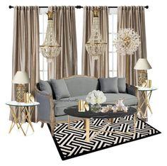 Livingroom by reemdhameen on Polyvore featuring polyvore, interior, interiors, interior design, home, home decor, interior decorating, Ballard Designs, DwellStudio, Kate Spade, OKA, Diane James, Dolce&Gabbana and Threshold  ____________________________________________ #interiorsfromrs #interiordesign #interior #design #interiors #beautifulinteriors  #architecture #decorator #honesweethome  #neutralscheme #scheme #homedecor #paris #love  #shabbychic #home #console #livingroom #hospitality…