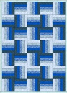 A five strip split rail fence block set in a more complex arrangement Yesterday on QUILTsocial I shared 5 tips for sewing with jelly rolls and… Strip Quilt Patterns, Jelly Roll Quilt Patterns, Beginner Quilt Patterns, Strip Quilts, Easy Quilts, Quilt Tutorials, Pattern Blocks, Quilting Patterns, Quilting Ideas